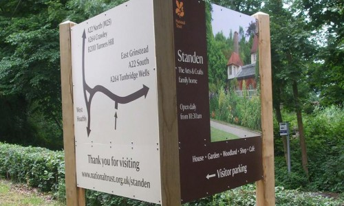 National Trust Standen Outdoor Signage