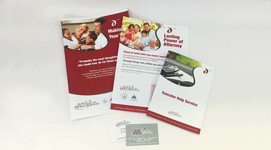 Brochures, leaflets and business stationery